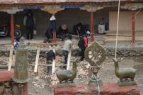 Stage lopen bij de restauratie van een klooster.